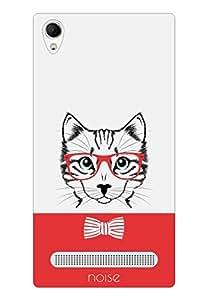 Noise Red Cat Printed Cover for Intex Aqua Power Plus