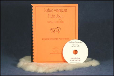 Native American Flute Joy 6-Hole Flute Instruction Book for Intermediate to Advanced & CD.