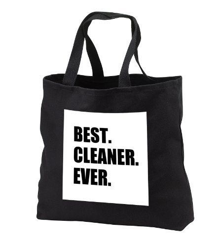 Tb_179768_3 Inspirationzstore Typography - Best Cleaner Ever Fun Gifts For Tidy Neat Freaks Housepride Houseproud - Tote Bags - Black Tote Bag Jumbo 20W X 15H X 5D front-1056082