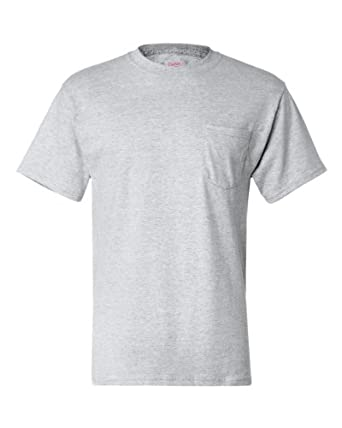 Hanes 6.1 oz. Beefy-T� with Pocket - ASH - S