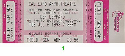 Def Leppard 1990s Ticket (Def Leppard Tickets compare prices)