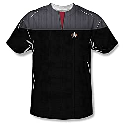 Star Trek The Next Generation Command Uniform Costume All Over Print Front T-Shirt