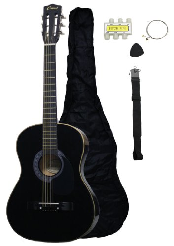 "MG38-BK 38"" Acoustic Guitar Starter Package, Black"