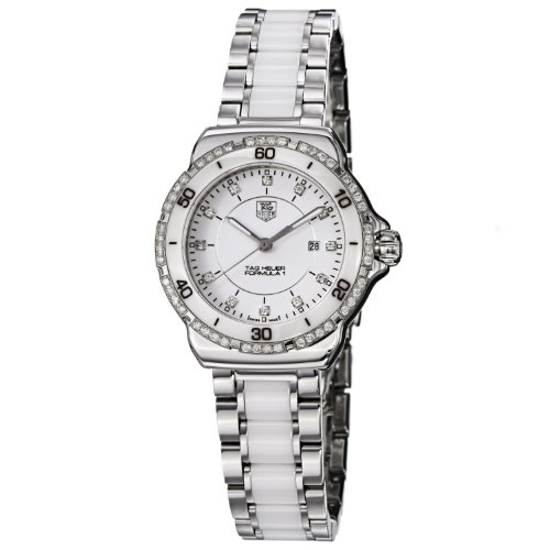 TAG Heuer Women's WAH1313.BA0868 Formula 1 White Diamond Dial Quartz Watch