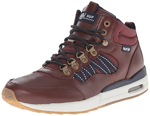 HUF Men's HR-1 Boot Inspired Runner, Dark Brown/Dark Navy, 9.5 M US