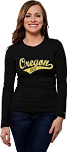 Oregon Ducks Women's Distressed Tail Sweep Long Sleeve Tee