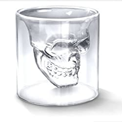 Generic 73ml Crystal Skull Head Vodka Shot Drinking Ware Glass Cup for Home Bar