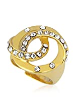 Art de France Anillo Adjustable (metal bañado en oro 24 ct / Blanco)