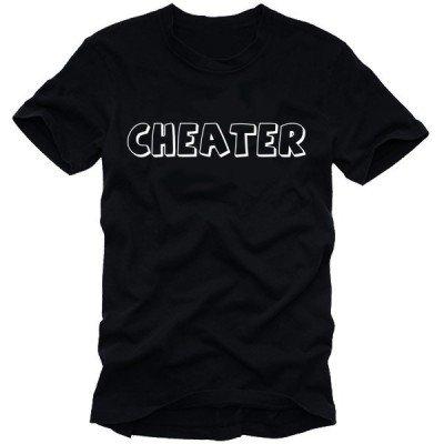 Coole-Fun-T-Shirts - Top NERO / BIANCO XX-Large
