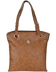 The Blue Pink Women's Tan Color Hand Bag (JEN-08)