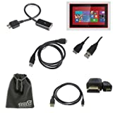 EEEKit 4-in-1 Cable Kit for Nokia Lumia 2520 Tablet, Mcro USB 3.0 Male to USB A 2.0 Female OTG Cable + USB 3.0 A Male to Micro USB Male Cable + Micro HDMI to HDMI Cable + EEEKit Gift Pouch Bag for Free(6.5*4 Inch)