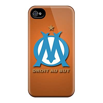 KpT6033dJHu Tpu Case Skin Protector For Iphone 4/4s Olympique De Marseille With Nice Appearance