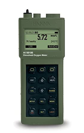 Hanna Instruments HI 98186-01 Dissolved Oxygen/BOD Meter, 115V, with Graphic Display