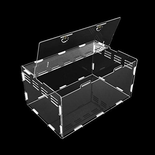 ダルクラフト 爬虫類用 飼育ケージ 全透明アクリル製 ゴムで固め (30x20x15cm)