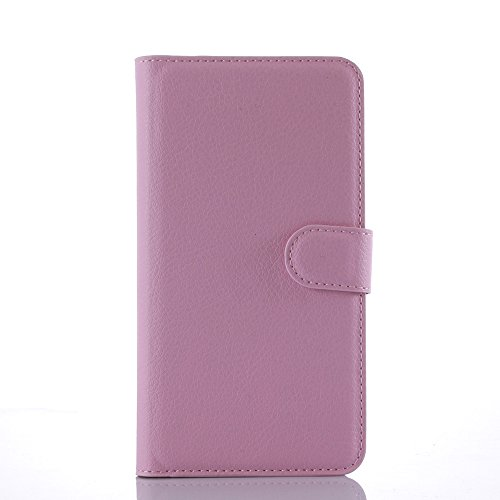 Taslar Leather Wallet Magnetic Clip Stand Flip Back Cover Case For Lenovo Vibe K4 Note (Pink)