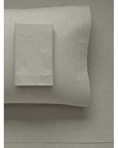 Belle Epoque Solid Heather Flannel Sheet Set, Sage, Twin
