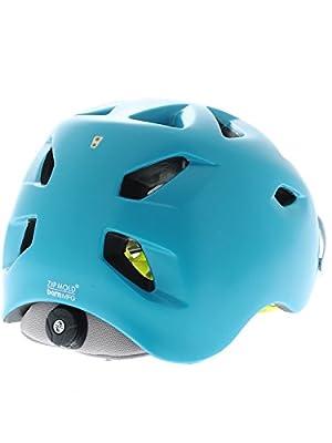 Bern Satin Teal Blue Grey 2015 Prescott Zipmold-Visor Womens MTB Helmet by Bern