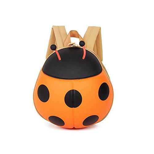 Kids Backpack Ladybug Beetle Backpack Kindergarten Children School Travel Bags (Orange) (Kindle Quilted Cover Pattern compare prices)