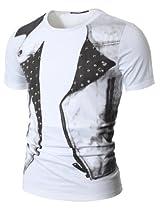Mens Casual Stunning Design Studded T-shirt (077D)