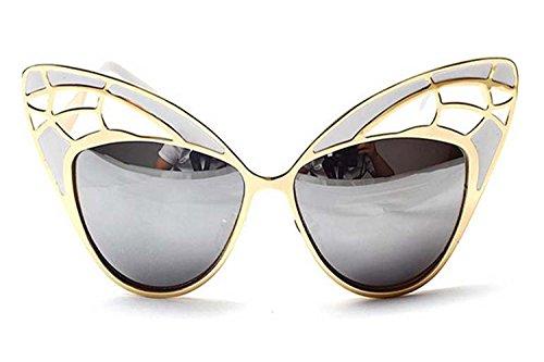 Darkey Wang Woman Fashion Gorgeous Cat Eye Butterfly-shaped Hollow Sunglasses