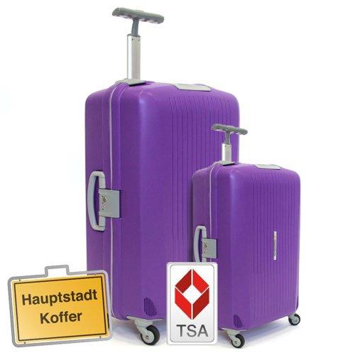 Hauptstadtkoffer 2er Set (45Liter,87Liter) Hartschalenkofferset,Kofferset,Trolleyset,Reisekofferset,Farbe