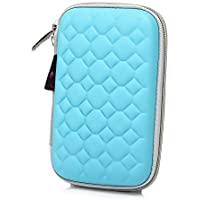 Hard Drive Disk Protective Zipper Carrying Shell Case Cover Bag For 2.5 Inch Portable External Hard Drive Blue... - B01GJNOMWI