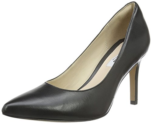 Clarks Dinah Keer, Scarpe Con Tacco Donna, Nero (Black Leather), 41 EU