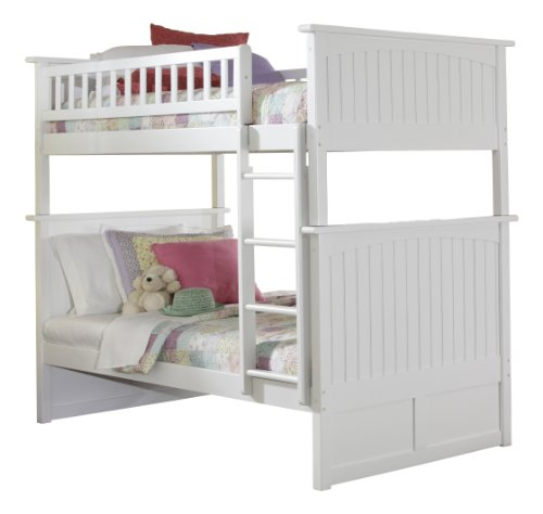 White Bunk Bed Twin Over Full 175815 front