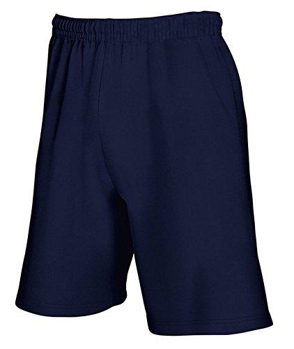 Calzoncini Corti Uomo Pantaloncini Bermuda Cotone Con Tasche Fruit Of The Loom, Colore: Blu Navy, Taglia: M