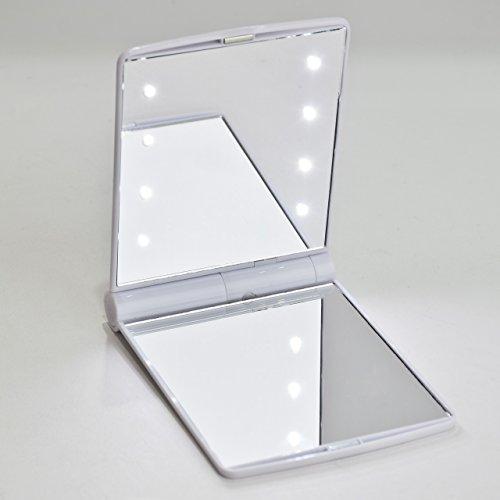 Yiyu led espejo plegable de mano para maquillaje espejo - Espejo de viaje ...