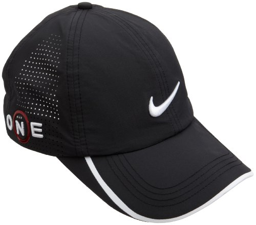 8d941622f NIKE Cap: Nike Adult One Dri-FIT Perforated Golf Hat, Black/White/White