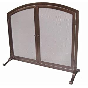emberly brown decorative 1 panel fireplace