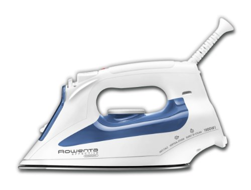 Rowenta DW2070 Effective Comfort Steam Iron with 300-Hole Stainless Steel Soleplate 1600 Watt, Blue