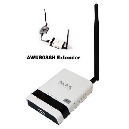 Alfa  AWUS036H用 802.11b/g/n  リピーター & レンジエクステンダー (エリア拡張機/中継機) 3G ルーターとしても使用可 (AWUS036H は別売)