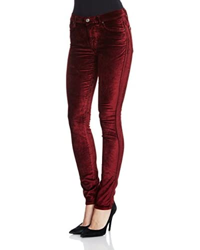 7 For All Mankind Pantalone Velluto The Skinny Sol Vel [Bordeaux]
