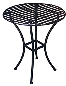 PTC Home & Garden Bistro Round Table, Pewter (Discontinued by Manufacturer)