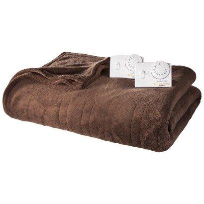 Biddeford Microplush Micro Plush Heated Blanket Twin Size Brown Color