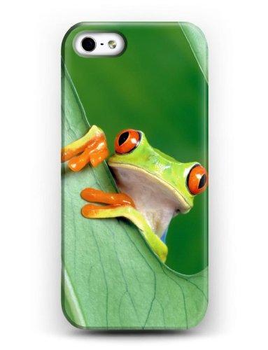 iCreat SUPER-CASE iphone cover schönes Design mit Netter Frosch, Gemaltes iphone Hülle Gehäuse Hartschale harte Rückseite für IPHONE 5 5G 5S