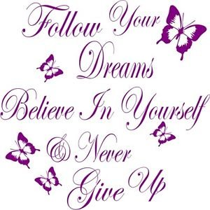 Follow Your Dreams Vinyl Sticker Decal Wall Art Décor | eBay