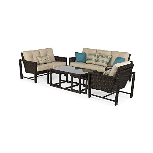 Ventura 6 Piece Deep Seating Set With Premium Sunbrella Fabric
