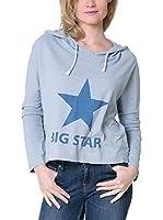 BIG STAR Sudadera con Capucha Rukas_Hood_Ls (Azul)