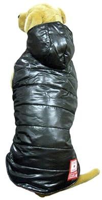 【大型犬服・遠赤外線綿】ドット遠赤中綿RVベスト XL/3L (ブラック, 3L)