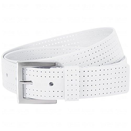 Aquarius Mens Perforated Belts 36 36.0 White