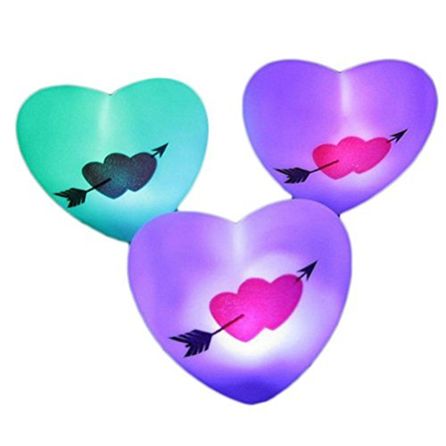 Zjskin 1 Piece Colorful Love Heart LED Night Light - 1