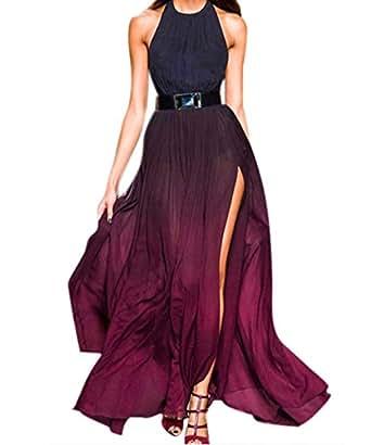 zeagoo sexy chiffon lange festlich kleider damen elegant. Black Bedroom Furniture Sets. Home Design Ideas