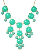 Bubble Necklace, Green Necklace, Statement Necklace (Fn0508-Green)