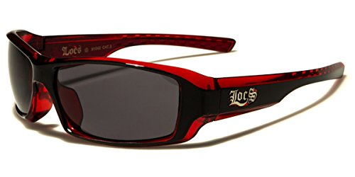 Locs Two Tone Original Gangsta Shades Fashion Statement Translucent Frame Sunglasses (Red Locs Sunglasses compare prices)