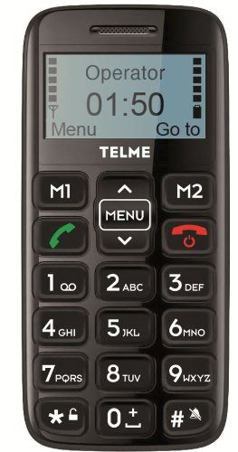 Telme C140 Handy (4,6 cm (1,8 Zoll) Display, Freisprechfunktion) schwarz