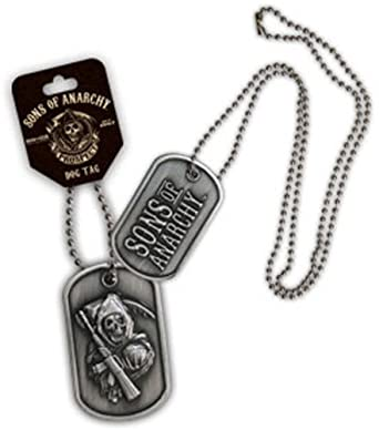 """Sons Of Anarchy ~ Metal Double Sided Dog Tag ~ with 24"""" Chain"""