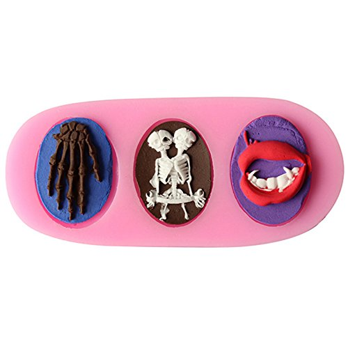 Generic Skull Human Skeleton Shape Chocolate Candy 3D Silicone Mould Cake Tools Soap Mold Sugar Craft Cake Decoration